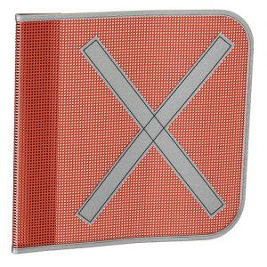 Orange Square  Safety Flag