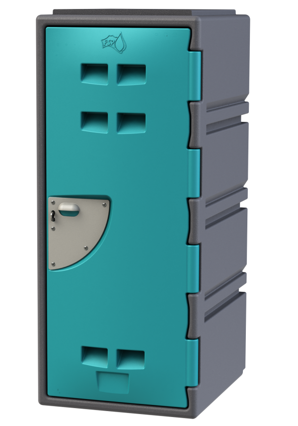 School Locker 4 tier - Teal
